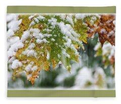 Autumn Snow 1 - Fleece Blanket