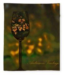 Autumn Vintage Fleece Blanket