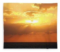 Bahamas Sunset Fleece Blanket