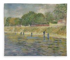 Bank Of The Seine Paris, May - July 1887 Vincent Van Gogh 1853 - 1890 Fleece Blanket