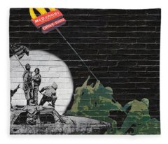 Banksy - The Tribute - New World Order Fleece Blanket