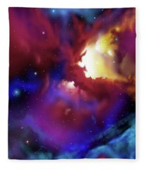 Bat Nebula Fleece Blanket