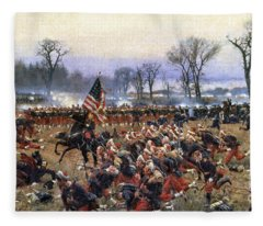 Battle Of Fredericksburg - To License For Professional Use Visit Granger.com Fleece Blanket