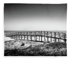 Beach Walkway Fleece Blanket