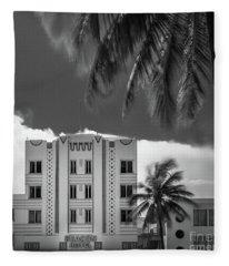 Beacon Hotel Miami Fleece Blanket