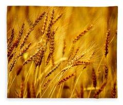 Bearded Barley Fleece Blanket