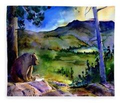 Bearly Light At Castle Peak Fleece Blanket