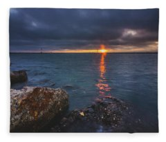 Beautiful Sunset At Marina Del Rey Fleece Blanket
