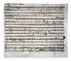 Beethoven Manuscript Fleece Blanket