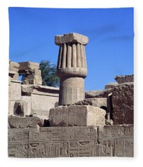 Belief In The Hereafter - Luxor Karnak Temple Fleece Blanket