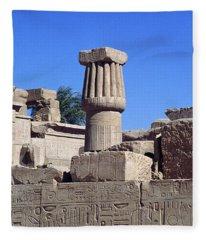Belief In The Hereafter - Luxor Karnak Temple Fleece Blanket