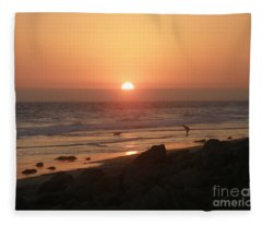 Best Friends At The Beach Fleece Blanket