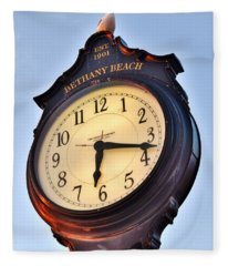 Bethany Beach Clock Tower Fleece Blanket