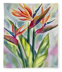Bird Of Paradise Flowers Fleece Blanket