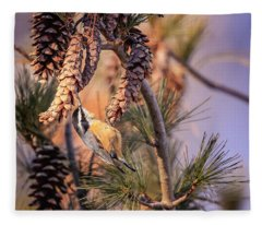Black-capped Chickadee Fleece Blanket