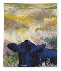 Black Cow Dartmoor Fleece Blanket