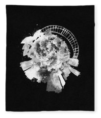 Black Skyround Art Of Sydney, Australia Fleece Blanket