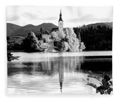 Bled Waking Up - Bled, Slovenia Fleece Blanket