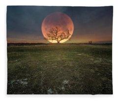 Blood Moon  Fleece Blanket
