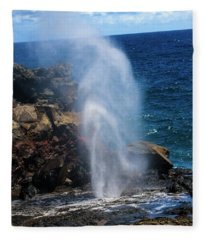 Blow Hole Fleece Blanket