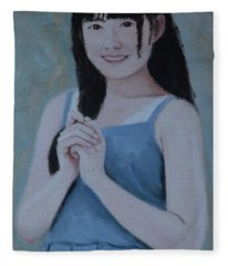 Blue Dress Fleece Blanket