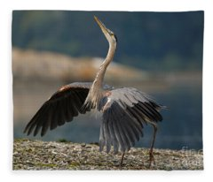 Blue Heron Dance Fleece Blanket