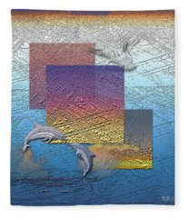 Blue Lagoon Sunrise  Fleece Blanket