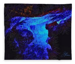 Blue Rush Fleece Blanket