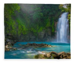 Blue Waterfall Fleece Blanket