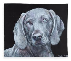 Blue Weimaraner Fleece Blanket