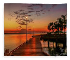 Boardwalk Sunrise Fleece Blanket