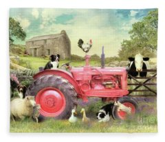 The Farmyard Fleece Blanket