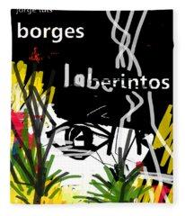 Borges' Labyrinths Poster Fleece Blanket