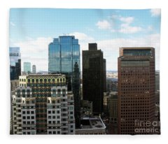 Boston Financial District Fleece Blanket