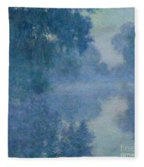 Branch Of The Seine Near Giverny Fleece Blanket