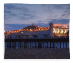 Brighton At Night Fleece Blanket