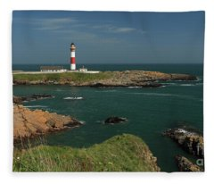 Buchan Ness Lighthouse And The North Sea Fleece Blanket
