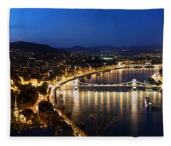 Budapest. View From Gellert Hill Fleece Blanket