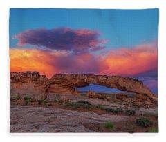 Burning Skies Fleece Blanket