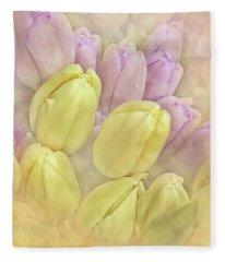 Burst Of Spring Fleece Blanket