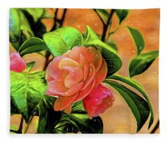 Camellia Candy Fleece Blanket