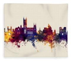 Canterbury England Skyline Fleece Blanket