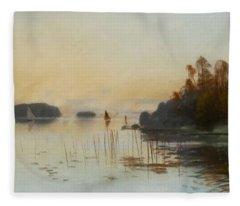 Carl Brand   1871 1930    Landscape Fleece Blanket
