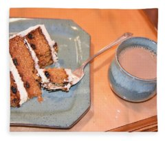 Carrot Cake And Coffee Fleece Blanket