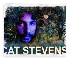 Cat Stevens Fleece Blanket