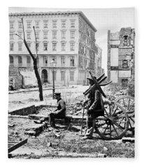 Charleston Ruins, 1865 Fleece Blanket
