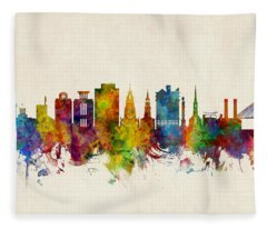 Charleston South Carolina Skyline Fleece Blanket