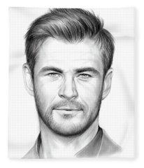Chris Hemsworth Fleece Blanket