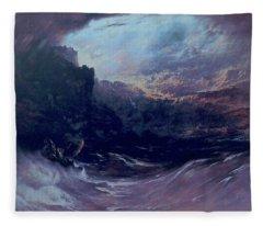 Christ Stilleth The Tempest Fleece Blanket