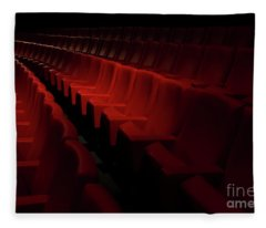 Fleece Blanket featuring the photograph Cinema by Mats Silvan